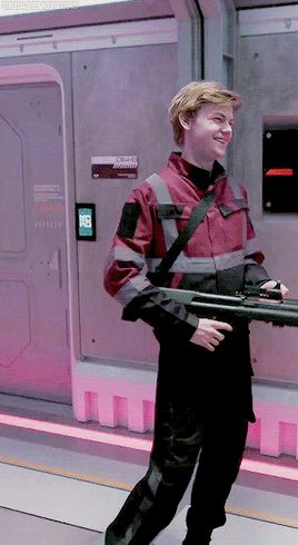 Thomas on Maze Runner: The Death Cure set gif