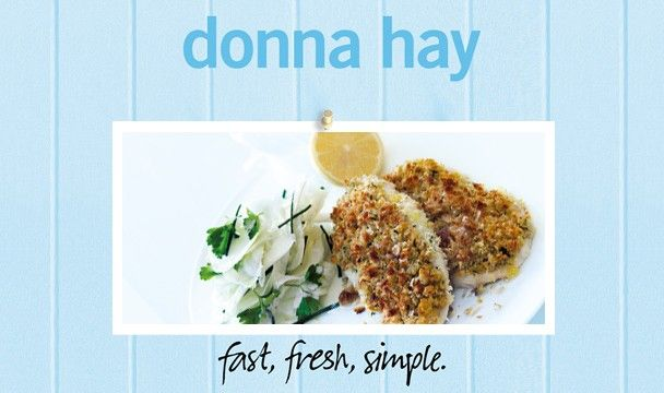 Grilled Chicken Schnitzel With Fennel slaw : Donna Hay Fast Fresh Simple : The Home Channel