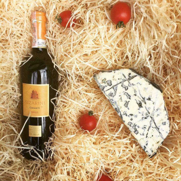 Sizarini Chianti (красное сухое итальянское вино) в сочетании с сыром Saint Aguir
