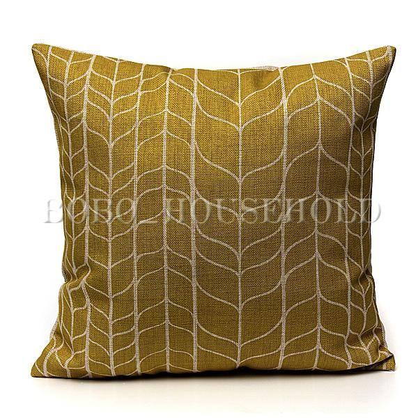 Sofa Mart Colorful Simple Square Cotton Linen Throw Pillow Case Waist Sofa Cushion Covers