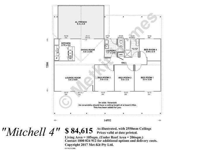 Customise a kit home floor plan, Online Design Changes, Met-Kit Homes