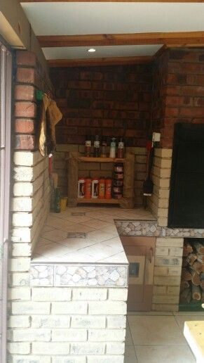 Rebuilt and painted our corner of braai tools and spice.