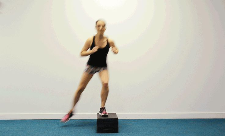 Plyometrics exercises like box jumps can help make you faster, more agile and stronger. Start with one foot on a box or an aerobics step. Jump sideways to switch feet on top of the box. Keep the core engaged and an athletic stance and be sure to bend the knees as you land. Start with 30 seconds at a time -- or incorporate it into a Tabata routine.