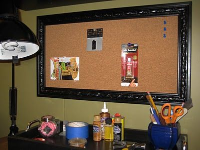 How to make your own framed cork board