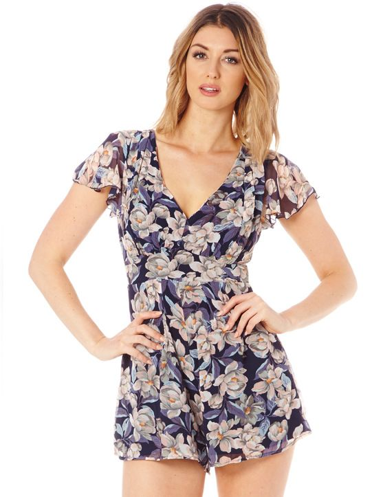 Floral Print Chiffon Playsuit, New Year Savings Free Shipping with Glassons Coupon codes and Glassons Promo Codes.