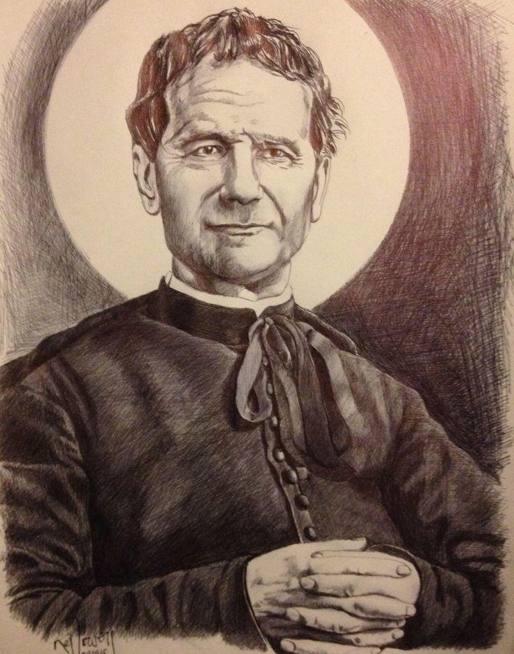 Don Bosco. Lapicero en papel