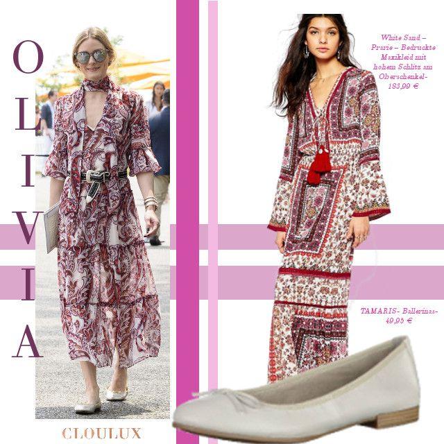Olivia Palermo trägt einen wunderschönes Kaftan-Kleid in Rottönen! Dieses schmucke Stück ist euer treuer Begleiter an heißen Sommertagen!