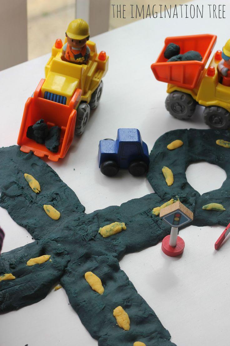 Play dough construction site activity