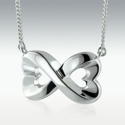 Boundless Love Sterling Silver Cremation Jewelry - Engravable