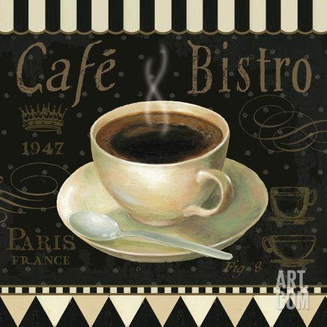 Cafe Parisien IV Print by Daphne Brissonnet at Art.com
