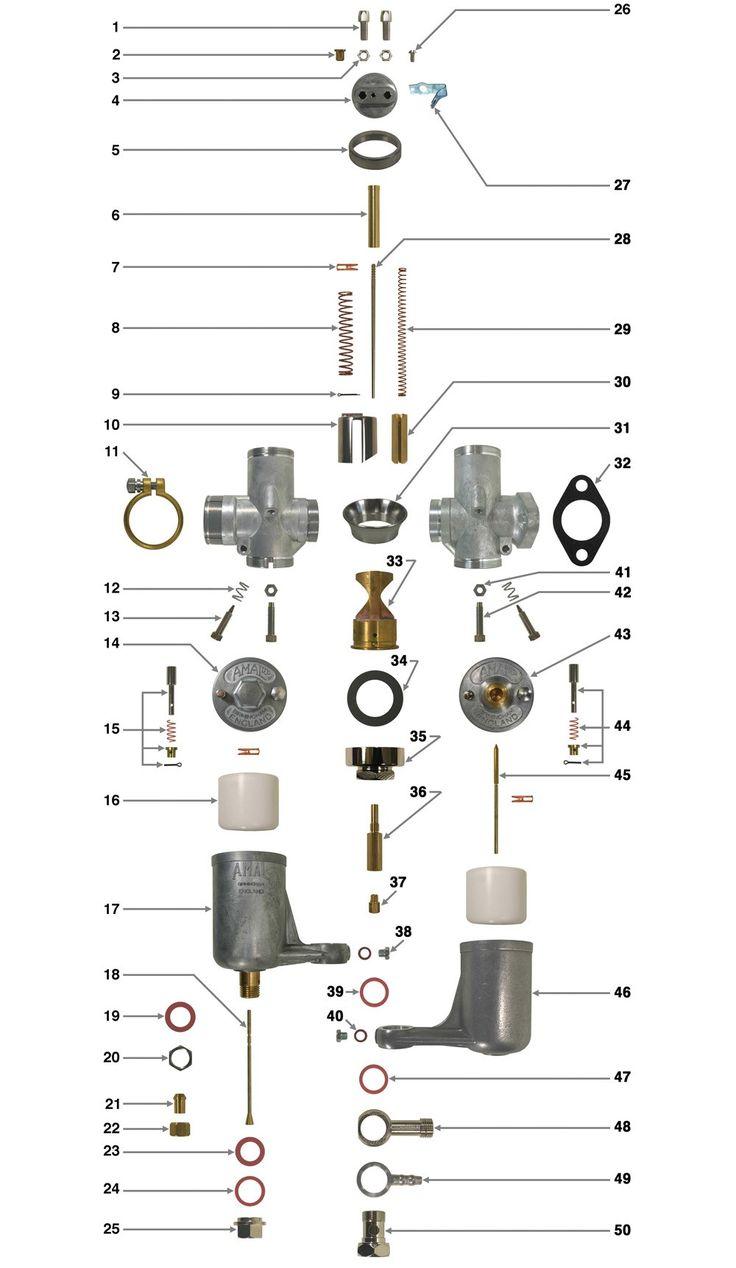 289L/2BH Carburettor for a E.M.C 350cc 2 Stroke 1947-54
