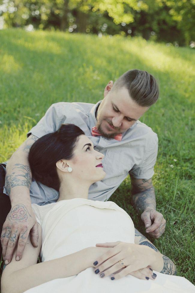 Tattooed Bride and Groom portraits