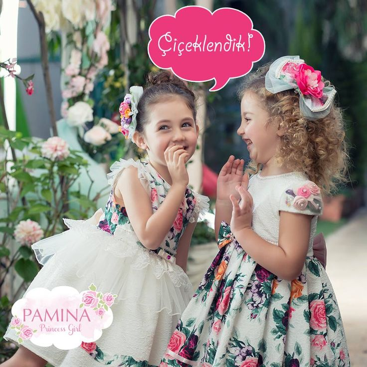 Bu bahar Pamina prenses kıyafetlerini çiçeklerle süsledik! :)  Pamina princess girl dresses are like spring at this season...  #spring #summer #fashionkids #kidswear #cocukgiyim #moda #ilkbahar #yaz