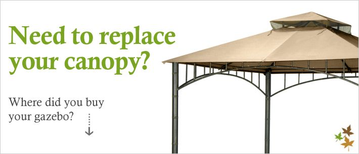 Gazebo Replacement Canopy Top and Replacement Tops - Garden Winds