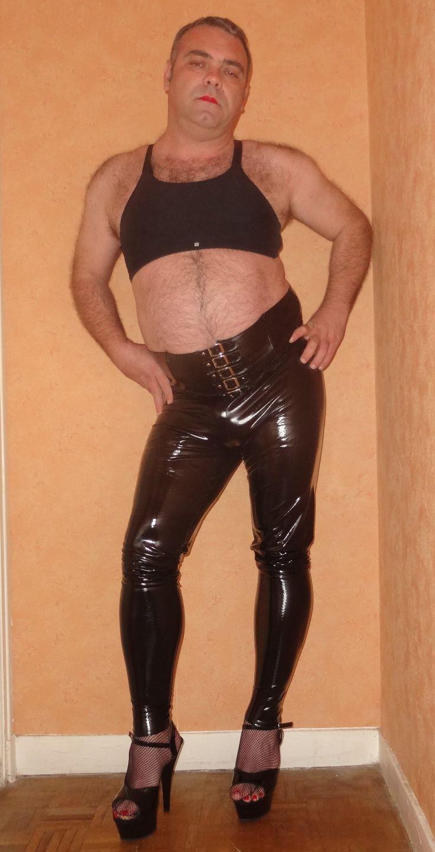 #shiny #sissy #faggot #pvc #legging #exposure #sissyexposed