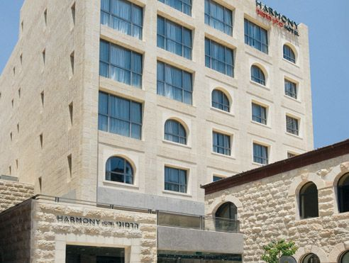 The Harmony Hotel is located in the heart of Jerusalem in Nahalat Shiva, one of the first neighborhoods built outside the walls of the Old City of Jerusalem a century ago.