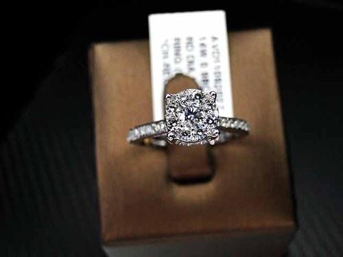 Bridal Womens Diamond Engagement Ring Round Brilliant Cut 14k White Gold