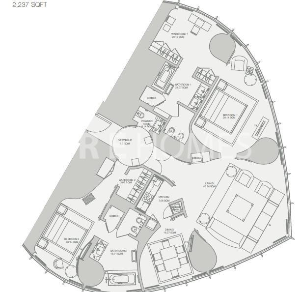 armani residence burj khalifa dubai floor plan