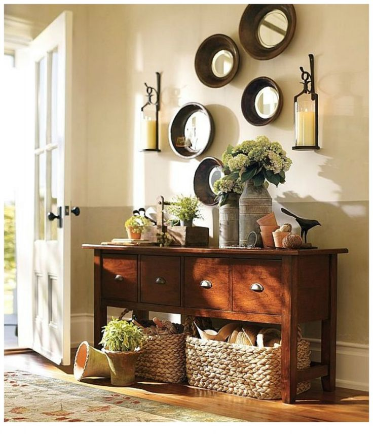 43 Beautiful Rustic Entryway Decoration Ideas: 17 Best Ideas About Foyer Decorating On Pinterest