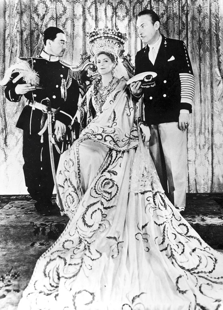 Leila Hyams - Buster and Lew Cody with Ethel Barrymore on the set of Rasputin and the Empress 1932
