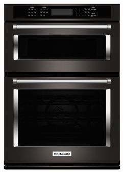 """Learn about features and specifications for the KitchenAid® 30"""" Combination Wall Oven with Even-Heat™  True Convection (Lower Oven) (KOCE500EBS)"""