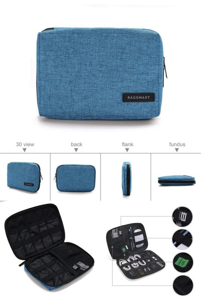 d7bb306eb24 Small Cable Case Gadget Electronics Storage Bag Organiser Accessories Travel  Kit  SmallCableCase
