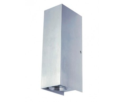 Aireys 2 Light Up/Down Wall Bracket In Brushed Aluminium,Lighting,Beacon Lighting