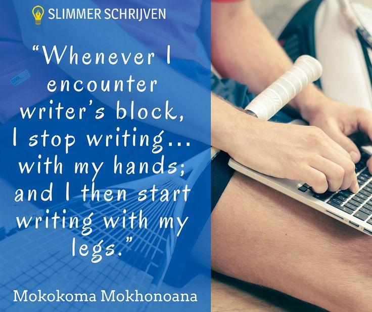 Sommige oplossingen zijn ook nog eens heel leuk om te doen. #slimmerschrijven #writersblock