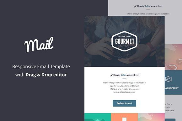 Mail + Email Builder by BrainSignal on @creativemarket