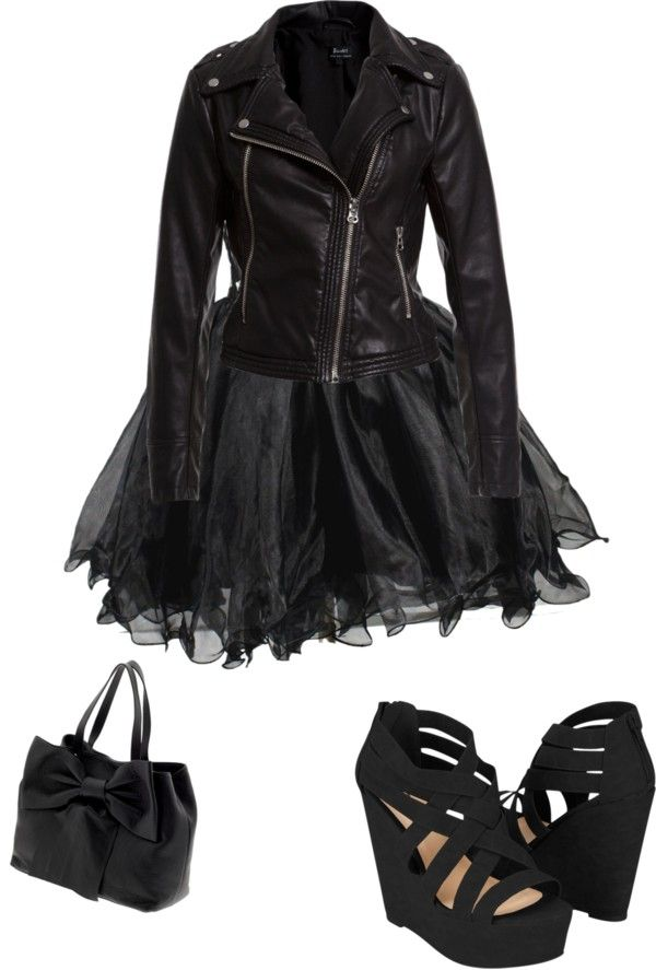 """cute goth outfit"" by eileen-schuring ❤ liked on Polyvore"