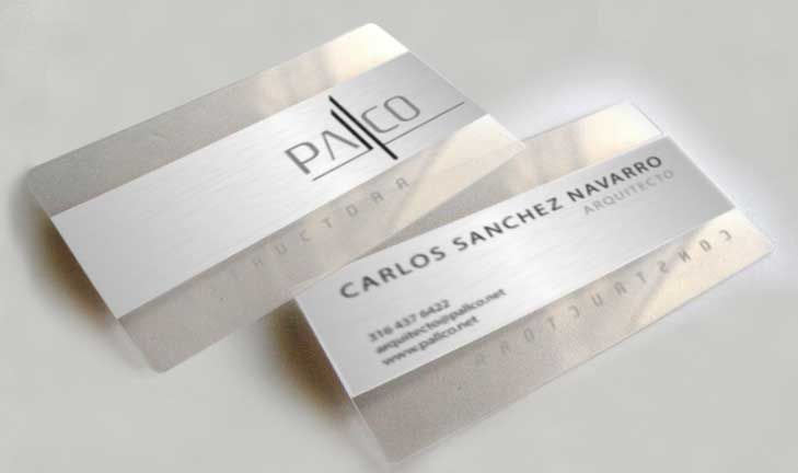 Pallco Architects Business Card Design