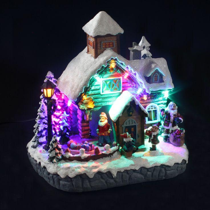 Maison de village illuminée et musicale de Noël : choisissez parmi tous nos produits Village de Noël lumineux