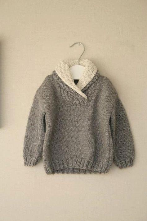 #Knitulator #Zopfmuster: #Pullover #Schalkragen