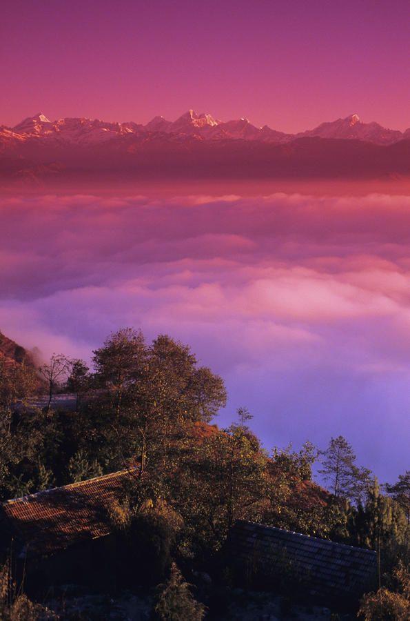 ✮ Nepal, Nagarkot and the Himalayan Mountains