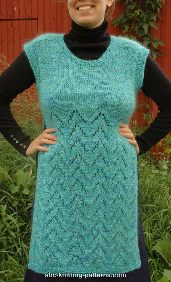 ABC Knitting Patterns - Land of the Pines Lace Tunic