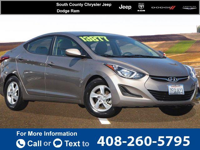 2014 *Hyundai*  *Elantra*   37k miles Call for Price 37970 miles 408-260-5795  #Hyundai #Elantra #used #cars #SouthCountyChryslerJeepDodgeRam #Gilroy #CA #tapcars