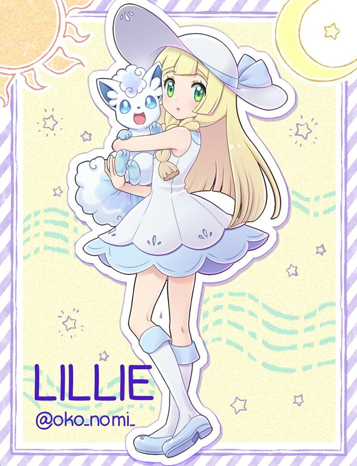 Lillie and Alolan Vulpix