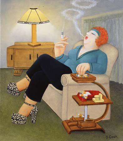 smokers delight, Beryl Cook