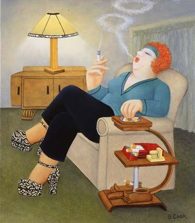 smokers delight, Beryl Cook