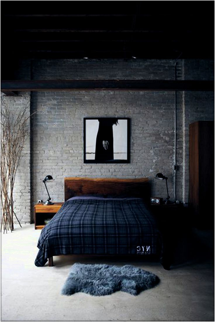 Bachelor Pad bedroom with jeans style design