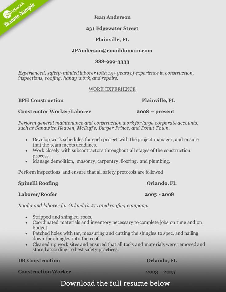 General Contractor Job Description Resume New How to Write