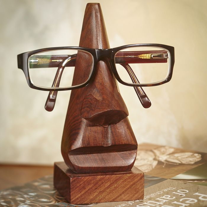 Wooden Nose Spectacle Stand