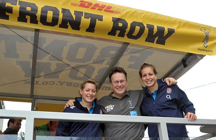 Natasha 'Mo' Hunt and Emily Scarratt visited #DHLFrontRow on Saturday!