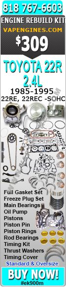 85-95 Toyota 2.4 22r 22re 22rec engine rebuild kit fits 4runner and Pickup.  On sale for $269.00
