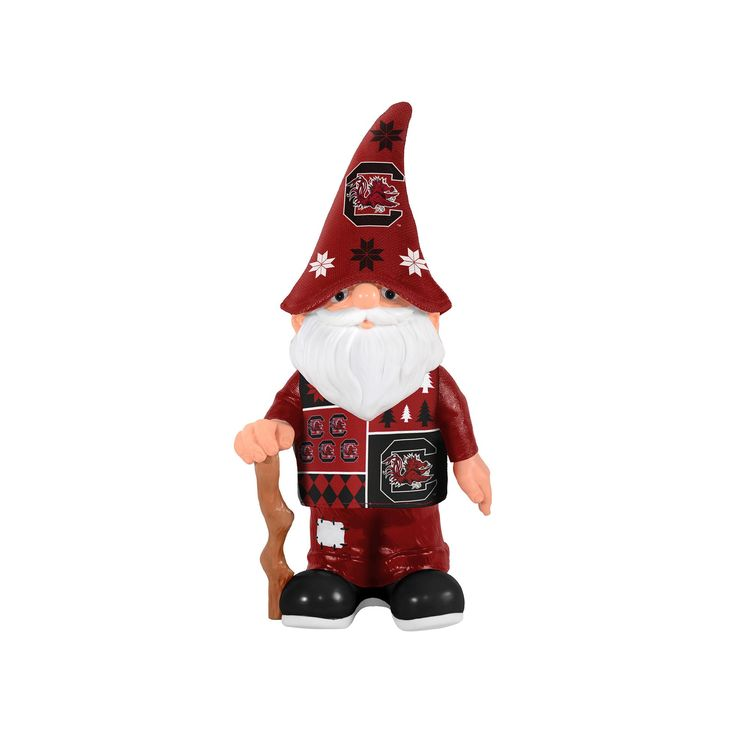 Forever Collectibles South Carolina Gamecocks Ugly Sweater Garden Gnome, Red