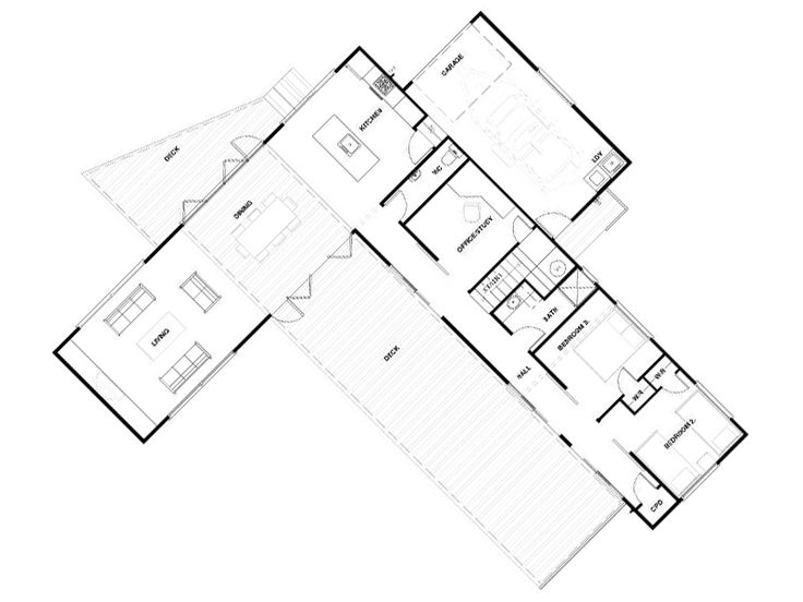 The 25 best l shaped house plans ideas on pinterest l for Small l shaped house plans