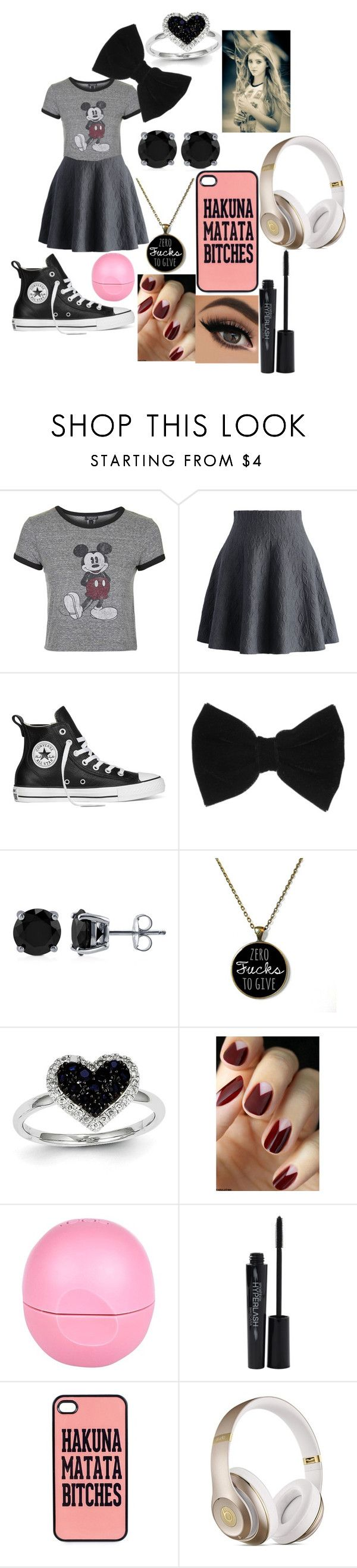 """""""Celebrity Family Roleplay"""" by lizzie-bug on Polyvore featuring Topshop, Chicwish, Converse, claire's, BERRICLE, Kevin Jewelers, River Island, Smashbox, JFR and Beats by Dr. Dre"""