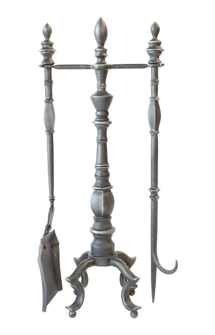 Buy Carvell Iron Fireplace Tool Set  by LCR Furniture & Design - Made-to-Order designer Accessories from Dering Hall's collection of Transitional Fireplace Mantels & Accessories.
