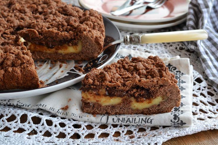 Sbriciolata cacao con crema pasticcera e nutella