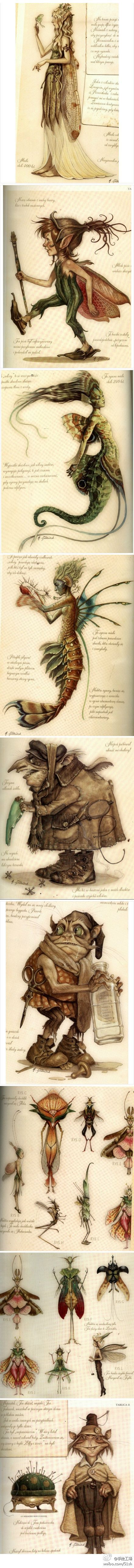 Goblins & Fairies Explained - art by Tony DiTerlizzi